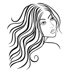 Beautiful women sketching head vector