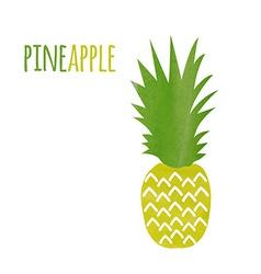 Watercolor pineapple vector