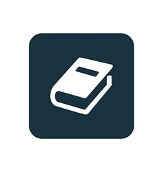 Book icon rounded squares button vector
