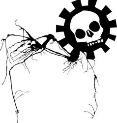 Nightmare skull vector