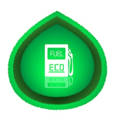 Eco fuel concept vector