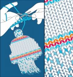 Knit cap vector