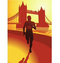 The runner in london vector