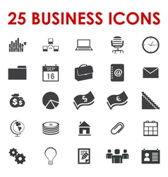 Business office icons vector