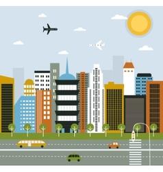 Big city life vector