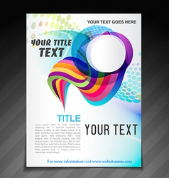 Advertise brochure design vector
