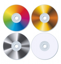 Set of four blank cds vector