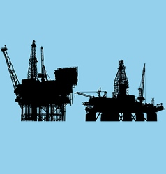 Offshore oil platform vector