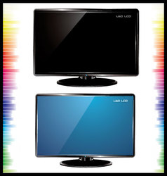 Lcd tv realistic vector