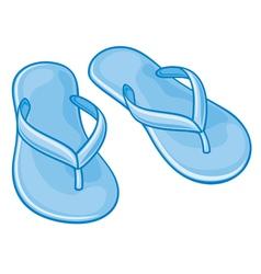Blue flip flops vector