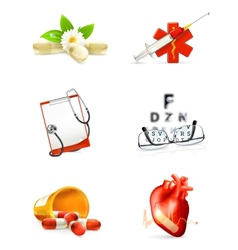 Medicine set of icons vector