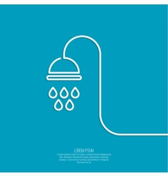 Shower handle vector