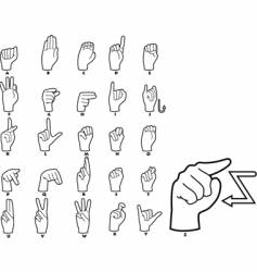 Sign language alphabet vector