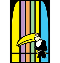 Toucans and stripes vector