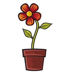 Flower in pot vector
