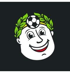 Soccer god head sign vector