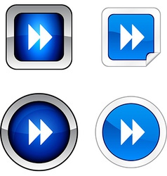 Forward button set vector
