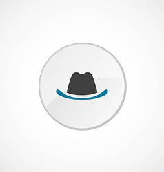 Hat icon 2 colored vector