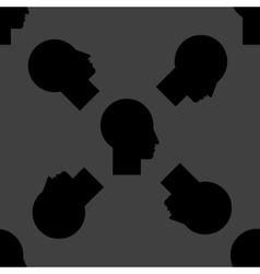 Man silhouette profile picture web icon flat vector