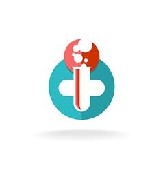 Medical research logo vector
