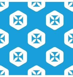 Maltese cross hexagon pattern vector