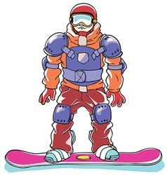 Snowboarder a body armor vector