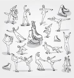 Figure skating vector