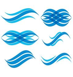 Wave symbols set vector