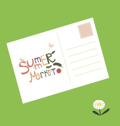 Post card summer market invitation vector