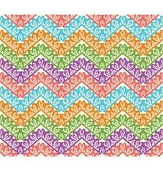 Colorful zigzag seamless pattern chevron vector