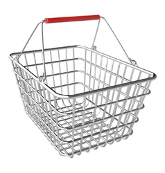 Empty shopping basket vector