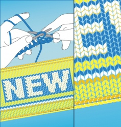 Knit new vector