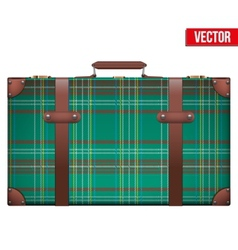 Vintage baggage suitcase for travel vector