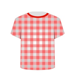 T shirt template- gingham pattern vector