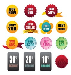 Labels stickers business on white background vector