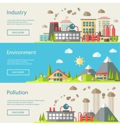 Set of modern flat design conceptual ecological vector