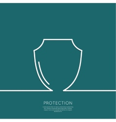 Shield symbol vector