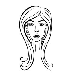 Girl face fashion vector