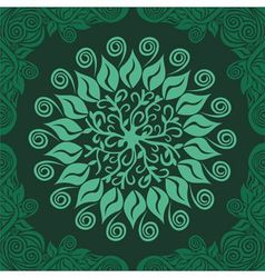 Floral nature pattern card green vector