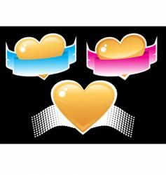 Heart and ribbon vector