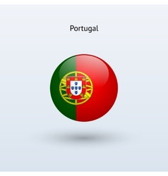 Portugal round flag vector