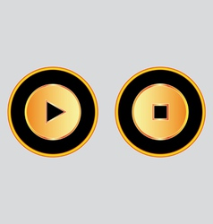 Buttons play stop vector