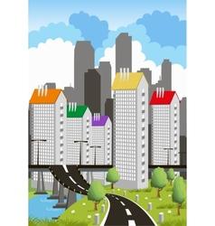 Modern metropolis vector