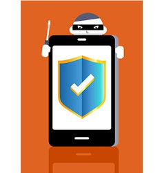 Smart phone protect vector