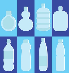 Set of water bottle vector