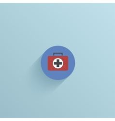 Flat circle icon on blue background eps10 vector