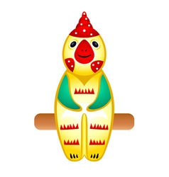 Rooster toy vector