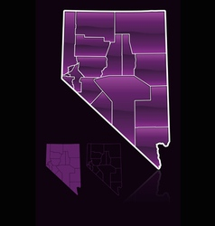 Counties of nevada vector