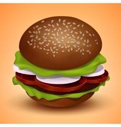 Tasty juicy burger vector