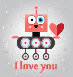 Robot in love funny vector